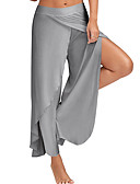 cheap Wide Leg-Women's Casual Plus Size Loose Wide Leg Pants - Solid Colored Split Light Blue