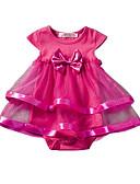 billige Babytopper-Baby Jente Blomster Helfarge Kortermet Akryl / Polyester Body Rosa