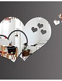 preiswerte Überbekleidung-Dekorative Wand Sticker - 3D Wand Sticker / Spiegel Spiegel Wohnzimmer / Schlafzimmer / Mädchen Zimmer / Waschbar