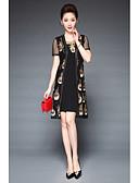 זול שמלות נשים-סגנון אמנותי, רקמה - שמלה נדן רזה מידות גדולות בגדי ריקוד נשים