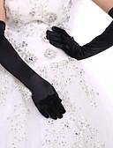 olcso Férfi nyakkendők és csokornyakkendők-Spandex Opera Kesztyű Menyasszonyi kesztyűk / Estélyi kesztyűk Val vel Strasszkő