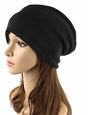 cheap Women's Hats-Unisex Headwear / Chic & Modern / Knitwear Cotton Beanie / Slouchy / Floppy Hat - Solid Colored Pure Color / Cute / Fall / Winter
