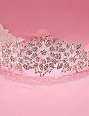 cheap Wedding Veils-Rhinestone / Alloy Tiaras / Headbands with 1 Wedding / Special Occasion / Birthday Headpiece
