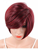 cheap Men's Swimwear-Synthetic Wig Wavy / Natural Wave / Natural Straight Synthetic Hair Red Wig Short Capless