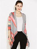 halpa Naisten bleiserit ja takit-Naisten Niskalenkki Rypytetty Color Block Wrap