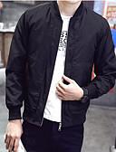 cheap Men's Jackets & Coats-Men's Cotton Jacket - Solid Colored Stand