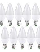 olcso Férfi pólók-EXUP® 10pcs 6W 500lm E14 LED gyertyaizzók C37 6 LED gyöngyök SMD 2835 fényvezérlő Meleg fehér Hideg fehér 110-130V 220-240V