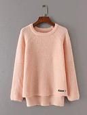 preiswerte Damen Pullover-Damen Ausgehen Niedlich Baumwolle Langarm Pullover - Solide