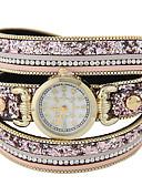 abordables Relojes Brazalete-Mujer Reloj Pulsera Gran venta Piel Banda Destello / Moda Negro / Marrón / Rosa / Un año / Tianqiu 377