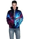 cheap Men's Hoodies & Sweatshirts-Men's Weekend Active Long Sleeves Loose Hoodie - 3D Print Hooded