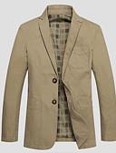 abordables Americanas y Trajes de Hombre-Hombre Simple Casual Blazer Un Color / Manga Larga