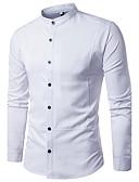 cheap Men's Shirts-Men's Casual Cotton Shirt-Solid Colored