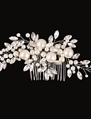 cheap Men's Ties & Bow Ties-Imitation Pearl / Rhinestone / Alloy Hair Combs / Flowers with 1 Wedding / Special Occasion / Birthday Headpiece