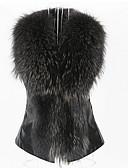 זול טרנינגים וקפוצ'ונים לנשים-בגדי ריקוד נשים חום שחור Wine XL XXL XXXL מעיל פרווה סגנון רחוב אחיד צווארון מרובע