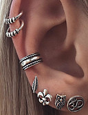 cheap Women's Sweaters-Women's Stud Earrings - Leaf, Owl, Number Vintage, Bohemian, Fashion Gold / Silver For Daily Casual Evening Party / 7pcs