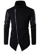 cheap Men's Hoodies & Sweatshirts-Men's Work Cotton Slim Jacket - Solid Colored, Patchwork Stand