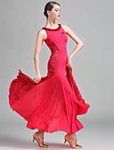 cheap Evening Dresses-Ballroom Dance Women's Performance Lace Milk Fiber Lace Sleeveless Natural Dress