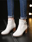 preiswerte Damen zweiteilige Anzüge-Damen Schuhe PU Herbst / Winter Springerstiefel Stiefel Blockabsatz Booties / Stiefeletten Beige / Rosa