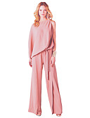 cheap Women's Jumpsuits & Rompers-Women's Plus Size Cotton Jumpsuit - Solid Colored Wide Leg