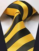 baratos Gravatas e Gravatas Borboleta-Homens Trabalho Básico Gravata Listrado