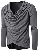 preiswerte Herrenhemden-Herrn Solide Baumwolle T-shirt, V-Ausschnitt Schlank