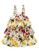 tanie Sukienki dla dziewczynek-Dzieci Dla dziewczynek Kwiatowy Kwiaty Nadruk Bez rękawów Sukienka
