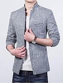 baratos Camisetas & Regatas Masculinas-Homens Terno Sólido Colarinho Chinês
