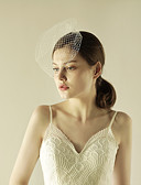 cheap Wedding Veils-One-tier Beaded Edge Wedding Veil Blusher Veils with Sparkling Glitter Tulle / Birdcage