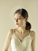 זול הינומות חתונה-שכבה אחת קצה חרוזים הינומות חתונה צעיפי סומק עם פאייטים טול / Birdcage