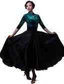 cheap Men's Ties & Bow Ties-Latin Dance Dresses Women's Performance Chiffon / Tulle / Velvet Chiffon 3/4 Length Sleeve Dress