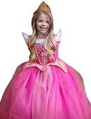 abordables Vestidos de Niña-Princesas Disfrace de Cosplay Niños Navidad Día del Niño Año Nuevo Festival / Celebración Poliéster Rosa Traje carnaval Brillo chispeante Encaje