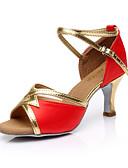 povoljno Haljine za NG-Žene Plesne cipele Svila Cipele za latino plesove Kopča Sandale Potpetica po mjeri Moguće personalizirati Braon / Crvena / Plava / Unutrašnji / Koža / EU40