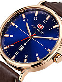cheap Sport Watches-Men's Sport Watch Wrist Watch Quartz Genuine Leather Band Material Black / Brown 30 m Calendar / date / day Creative Cool Analog Charm Luxury Casual Fashion Elegant - Black Brown Blue Two Years