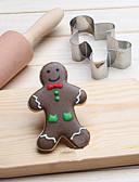 olcso Kvarc-chritsmas gingerman sütemények vágó rozsdamentes acél sütemény sütemény penész sütés eszközök
