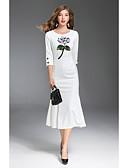 cheap Women's Dresses-Women's Going out Sheath Dress Print / Fall / Sequin / Floral Patterns