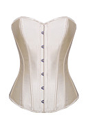 cheap Corsets-Women's Hook & Eye Overbust Corset-Solid