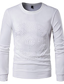 cheap Men's Hoodies & Sweatshirts-Men's Active Long Sleeve Sweatshirt - Solid Colored Round Neck