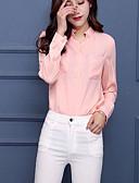 preiswerte Hemd-Damen Solide Hemd, V-Ausschnitt