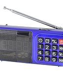 cheap Sport Watches-L-83 FM Portable Radio Alarm Clock / MP3 Player / Sleep Timer TF Card World Receiver Red / Blue