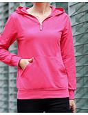 abordables Camisas y Camisetas para Mujer-Mujer Algodón Sudadera Un Color / Otoño / Look deportivo