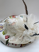 cheap Fashion Hats-Tulle / Chiffon / Lace Fascinators / Hats with 1 Wedding / Special Occasion / Birthday Headpiece