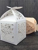 cheap Watch Accessories-Others Creative Pearl Paper Favor Holder with Pattern Favor Boxes - 50