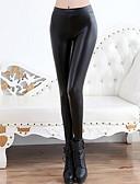 abordables Pantalones para Mujer-Mujer Deportivo Legging - Un Color Media cintura