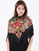 cheap Fashion Scarves-Women's Cotton Square - Paisley Print / Fall / Winter