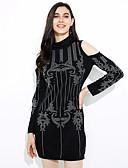 halpa Tyttöjen vaatteet-Naisten Katutyyli Vartalonmyötäinen Mekko - Color Block Reisipituinen