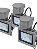 hesapli Düğün Hediyeleri-Jiawen 3 adet sensörü led sel ışık açık insan vücudu indüksiyon spot projektör 10 w ip65 su geçirmez bahçe aydınlatma ac85-265 v