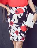 cheap Gloves-Women's Going out Sophisticated Bodycon Skirts - Floral Print / Summer