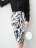cheap Women's Skirts-Women's Holiday / Going out Street chic Bodycon Skirts - Abstract Split / Print / Spring / Fall