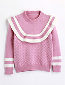 cheap Girls' Clothing-Girls' Solid Colored Long Sleeve Cotton Blouse Pink 2-3 Years(100cm)