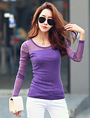 cheap Women's T-shirts-Women's Going out T-shirt - Solid Colored / Fall / Winter